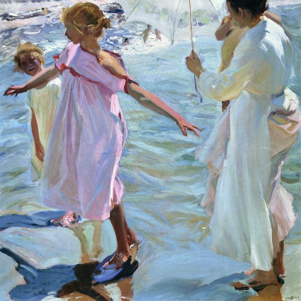 Bath time, Valencia. Joaquin Sorolla