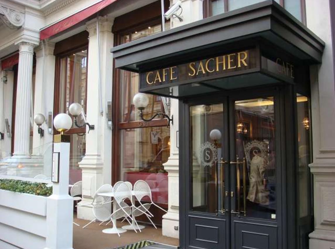 Hotel Sacher Vienna Cafe Menu