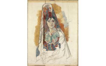 Pablo Picasso, Mujer con mantilla, Barcelona, junio de 1917, Museu Picasso, Barcelona. Fotografía, Gasull Fotografia ©Sucesión