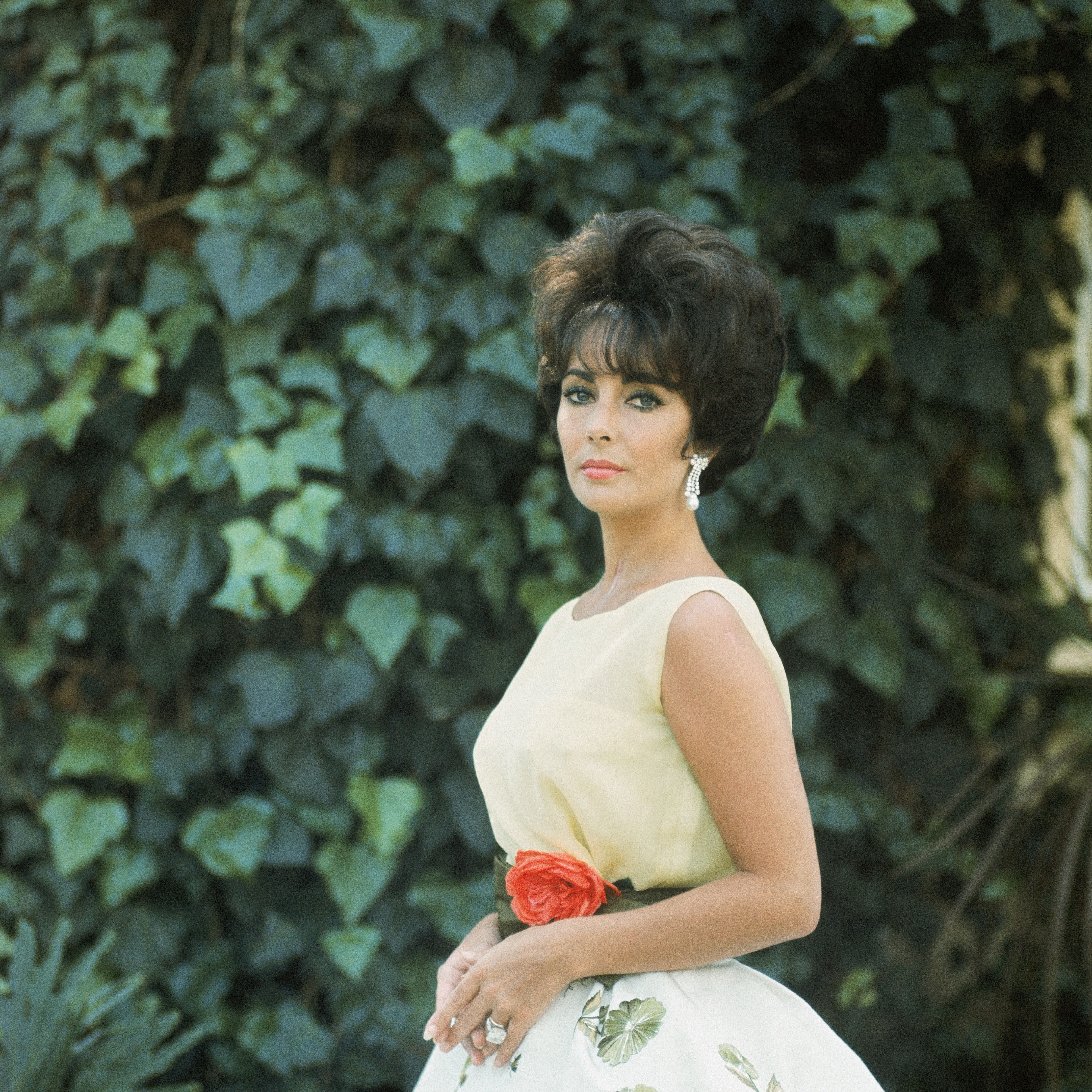 Mark Shaw, Elizabeth Taylor in the Soirée à Rio dress, Spring-Summer 1961 Haute Couture collection Slim Look © Mark Shaw / mptvi