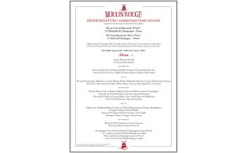 Christmas Dinner at the Moulin Rouge, Paris, 21 December - 2 January 2018