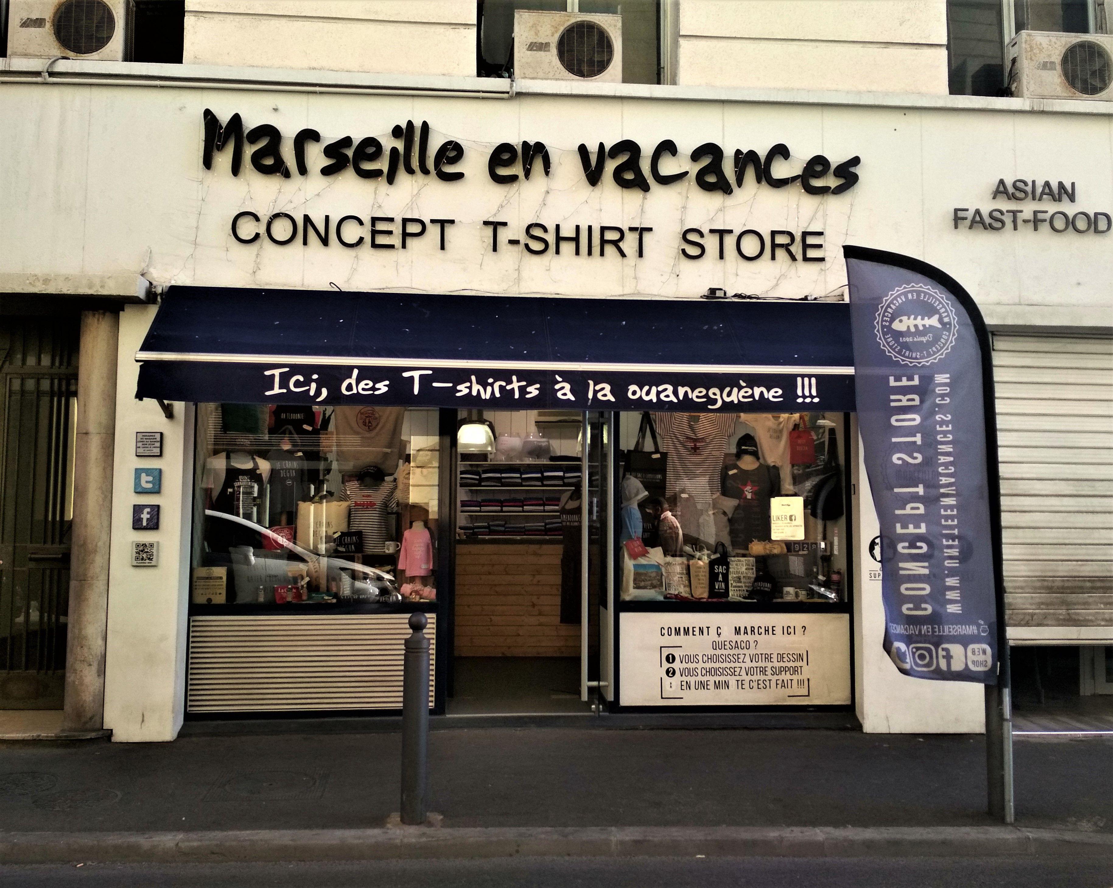 Marseille en vacances, Concept T-shirt store, Marseille