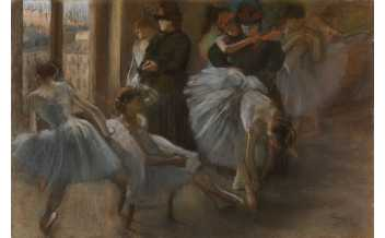 Hilaire-Germain-Edgar Degas Preparation for the Class about 1877 Pastel on paper 58 x 83 cm The Burrell Collection, Glasgow (35.238) © CSG CIC Glasgow Museums Collection