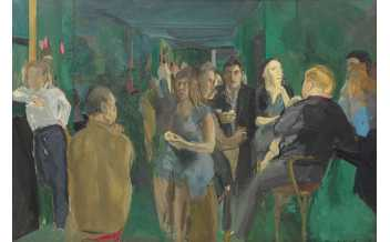 Michael Andrews, 1928-1995 Colony Room I 1962 Oil paint on board 1219 x 1827 mm Pallant House Gallery, Chichester (Wilson Gift through The Art Fund, 2006)  ©The Estate of Michael Andrews, courtesy of James Hyman Gallery, London.