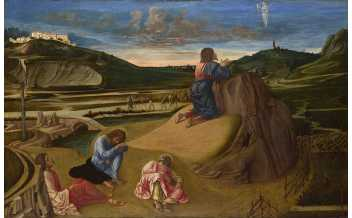 Giovanni Bellini  The Agony in the Garden  about 1465  Egg on wood  81.3 x 127 cm  © The National Gallery, London