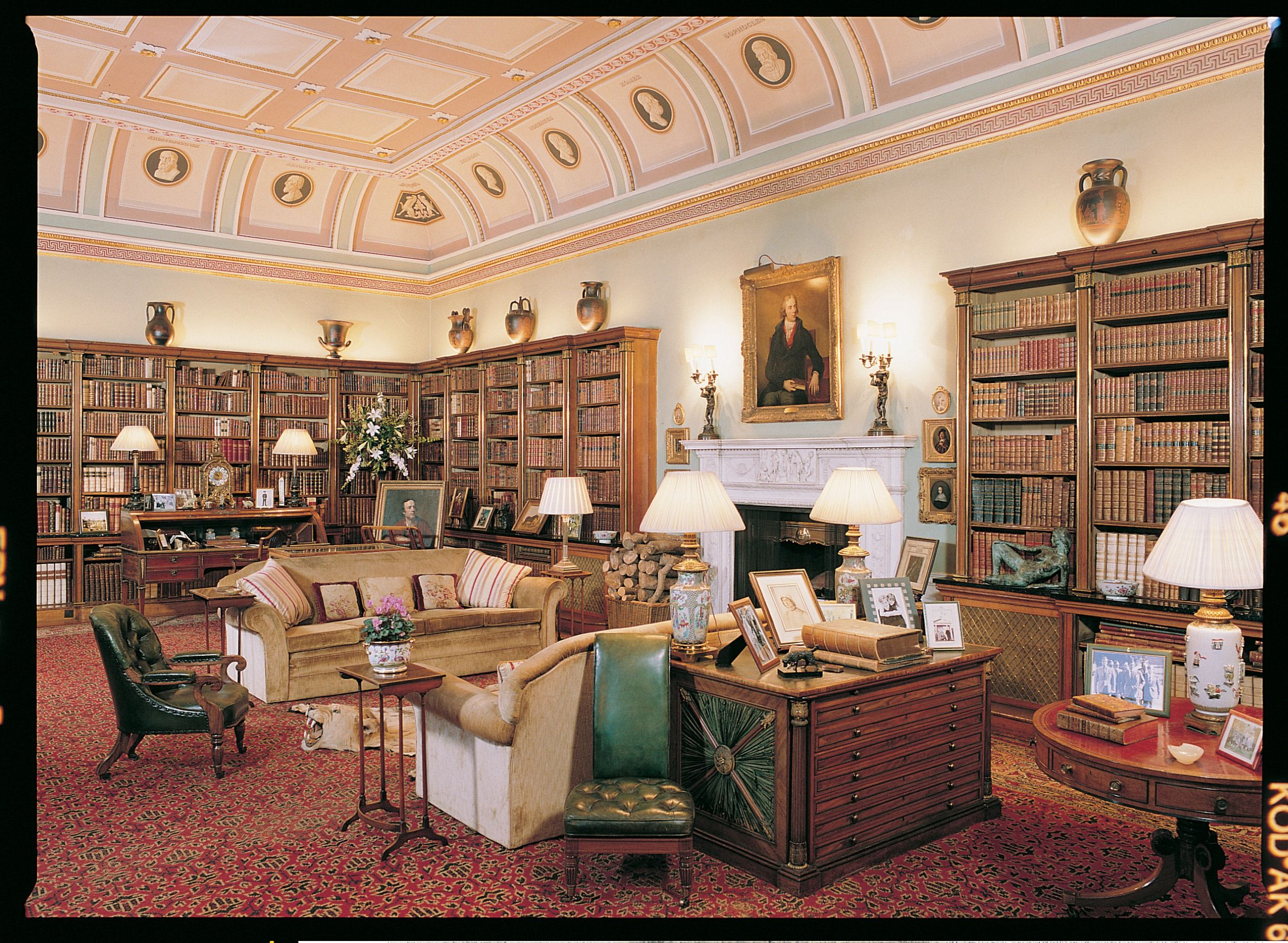 Library at Bowood House - looking towards to the fireplace