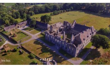 Bon Repos Abbey, Saint-Gelven, Bretagne, France