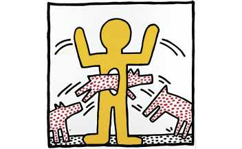 Keith Haring Untitled, 1982. Baked enamel on steel. Courtesy of Larry Warsh © The Keith Haring Foundation