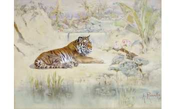 Tiger, Anton Romako, 1870 © The Albertina Museum, Vienna