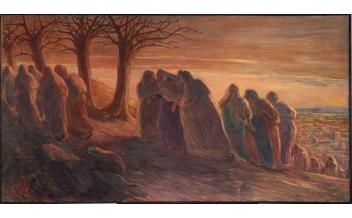 Gaetano Previati, La via al Calvario, 1901-1904, olio su tela Milano, Museo Diocesano Carlo Maria Martini