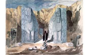 Discovery of Nimrud Frederick Charles Cooper (1810 – 1880), Nimrud, mid-19th century, watercolour on paper © The Trustees of the British Museum