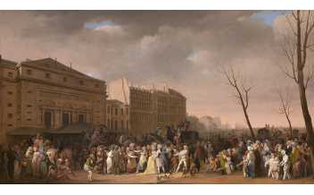 A Carnival on the Boulevard du Crime, Louis-Léopold Boilly,1832, © Photo © courtesy the Trustees