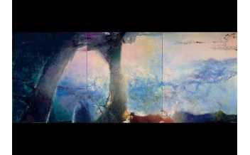 Zao Wou-Ki, Hommage à Claude Monet, 1991,Collection particulière, © Adagp, Paris, 2018 Photo: Jean-Louis Losi