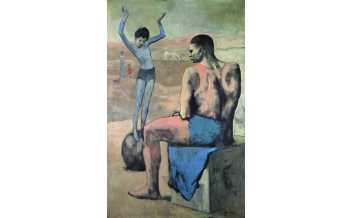 """Anonyme """"The Wandering Acrobats"""", by Pablo Picasso en 1912, musée d'Orsay, Paris, France ©Succession Picasso, 2016, Paris"""