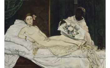 Edouard Manet, Olympia, 1863, Paris, Musée d'Orsay, offered to the French State by public subscription initiated by Claude Monet, 1890, ©RMN, Hervé Lewandowski
