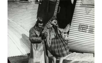 Photographer unknown A. Rodchenko and V. Stepanova descending from the airplane. (for the film The General Line by Sergei Eisenstein), 1926 Courtesy Rodchenko and Stepanova Archives, Moscow