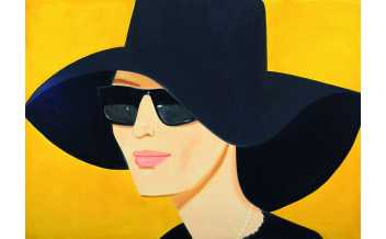 Alex Katz: Black Hat 2, 2010, (The Albertina Museum, Vienna © Bildrecht, Vienna, 2018)