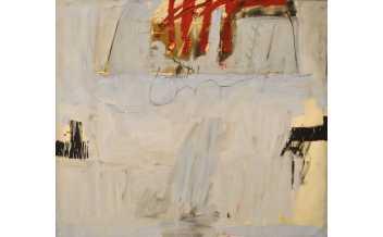 Antoni Tàpies.  Blau amb quatre barres roges, 1966 (Blue with Four Red Bars) © Comissió Tàpies, Vegap, 2018
