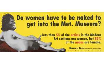 Guerrilla Girls (Grup d'artistes), Do Women Have To Be Naked To Get into the Met. Museum? s.d. Material gràfic Col·lecció MACBA. Consorci MACBA
