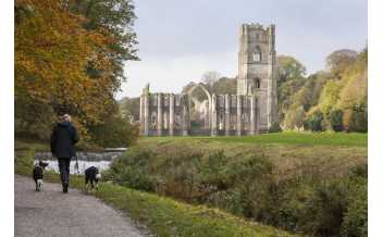 Fountains Abbey and Studley Royal Water Garden, North Yorkshire, England