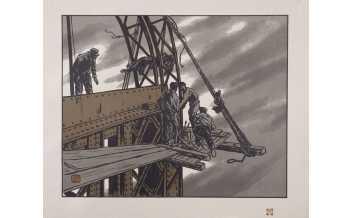 Henri Riviere, En haut de laf tour, Les Trente-Six Vues de la tour Eifel, 1888-1902. © ADAGP, Paris 2018 ; cliche © RMN-Grand Palais (musee d'Orsay) / Rene-Gabriel Ojeda