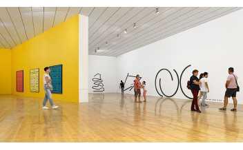 Vue de l'exposition Bernar Venet, rétrospective 2019-1959 au MAC Lyon (21 septembre 2018 – 06 janvier 2019)  Crédit photo : Blaise Adilon  © Adagp, Paris, 2018