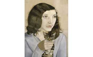 Lucian Freud  Girl with a Kitten 1947 Oil paint on canvas 41 × 30.7 Tate. Bequeathed by Simon Sainsbury 2006, accessioned 2008  Credit: Tate, London 2018 ©The Lucian Freud Archive/Bridgeman Images