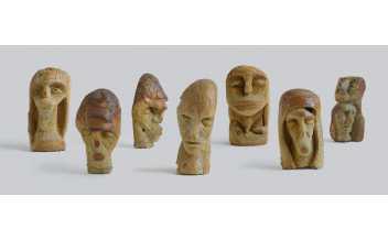 Kenyérfej-szobrok / Bread Head Sculptures, 2003, fotó/photo: HÜBNER Teodóra
