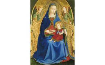 The Virgin and Child with two Angels or The Virgin with a Pomegranate Guido di Pietro, called Fra Angélico Témpera on panel c. 1426 Madrid, Museo Nacional del Prado. Adquisición 2016 (con la colaboración de la Fundación Amigos del Museo del Prado)