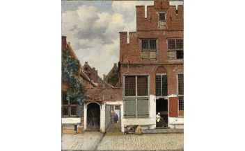 View of houses in Delft Vermeer c. 1658 Amsterdam, Rijksmuseum. Gift of H.W.A. Deterding, London