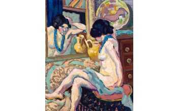 Helene Funke, Nude Looking in the Mirror, 1908-1910 © Belvedere, Wien. Photo: Johannes Stoll © Belvedere, Vienna