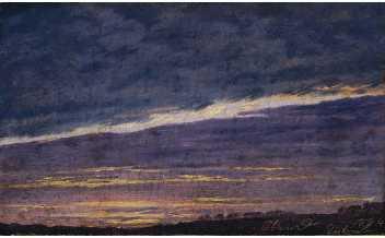 Caspar David Friedrich, Cloudy Evening Sky, 1824 © Belvedere, Vienna