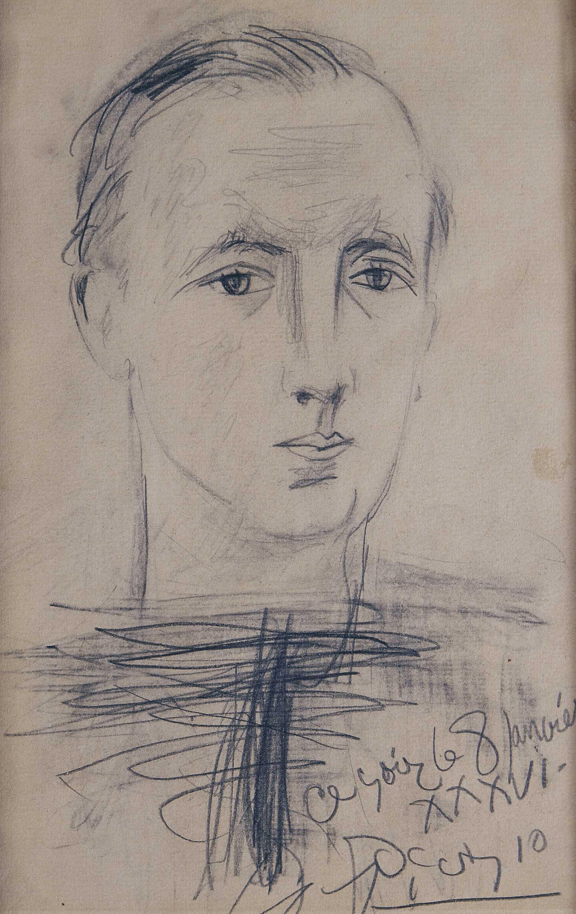 Pablo Picasso, Paul Eluard (1936) Musée d'art et d'histoire – Saint-Denis. Cliché : Irène Andréani © Successió Pablo Picasso, VEGAP, Madrid 2019