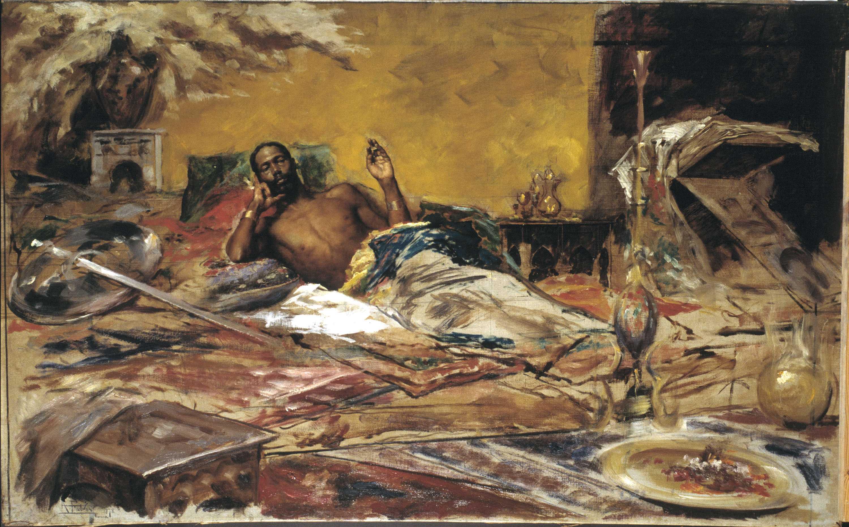 Antoni Fabrés. Reposo del guerrero, 1878. Barcelona, Museu Nacional d'Art de Catalunya