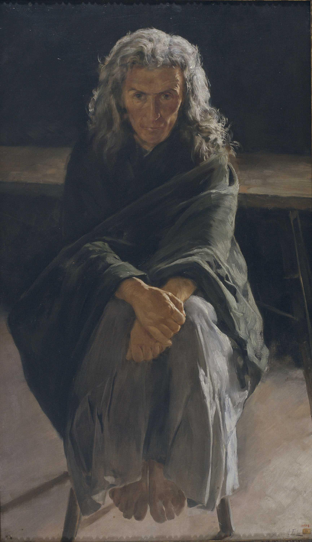 Antoni Fabrés. La loca, Entre 1907-1910. Barcelona, Museu Nacional d'Art de Catalunya