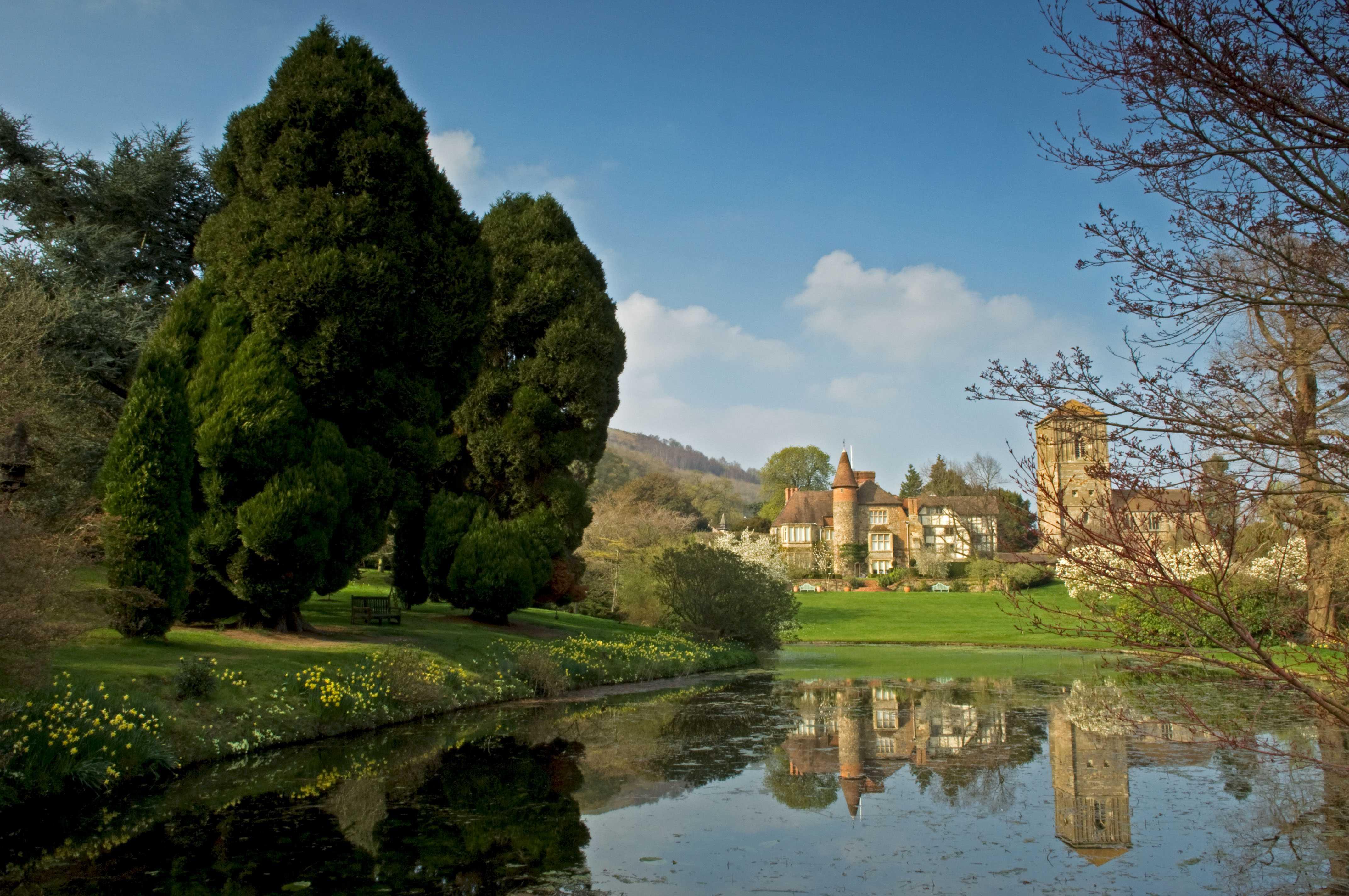 Little Malvern Court and Gardens, Worcestershire, England