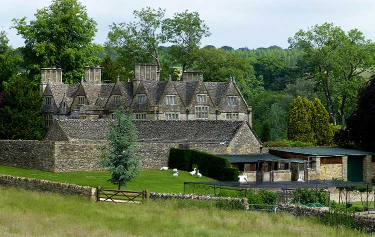 Upper Slaughter Manor & Gardens, Gloucestershire, England