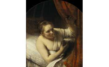 Rembrandt van Rijn, A Woman in Bed, 164 5-6 , National Galleries of Scotland. Presented by William McEwan 1892. Photography Antonia Reeve.