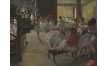 La Classe de danse,1873-76. Huile sur toile, Washington,DC,The National Gallery of Art. Photo ©Washington,DC,The National Gallery of Art –NGA IMAGES