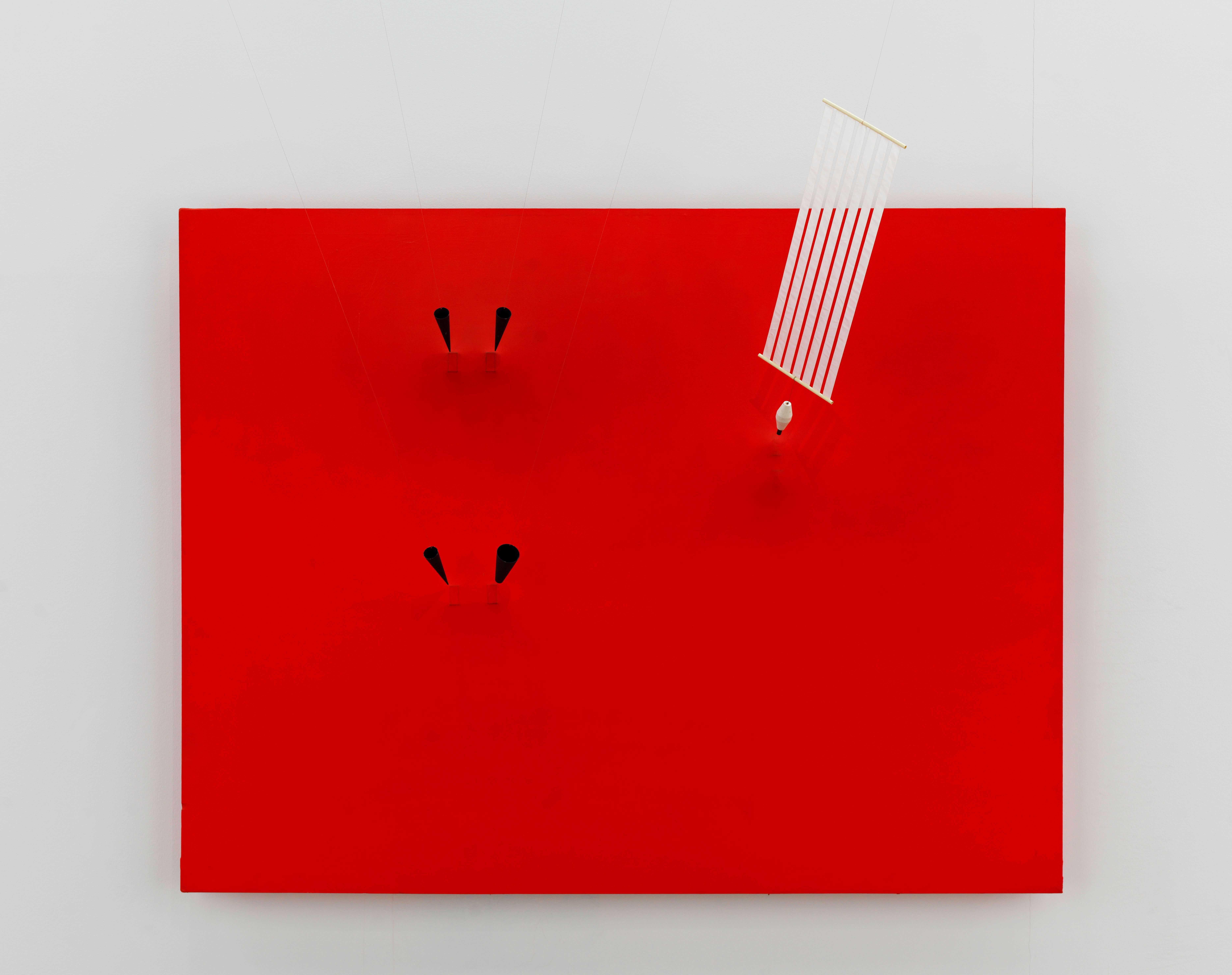 Magnetic Wall 9 (Red) 1961. Centre Pompidou, Musée national d'art moderne – Centre de création industrielle, Paris © ADAGP, Paris and DACS, London 2019 Photo: Georges Meguerditchianntent.