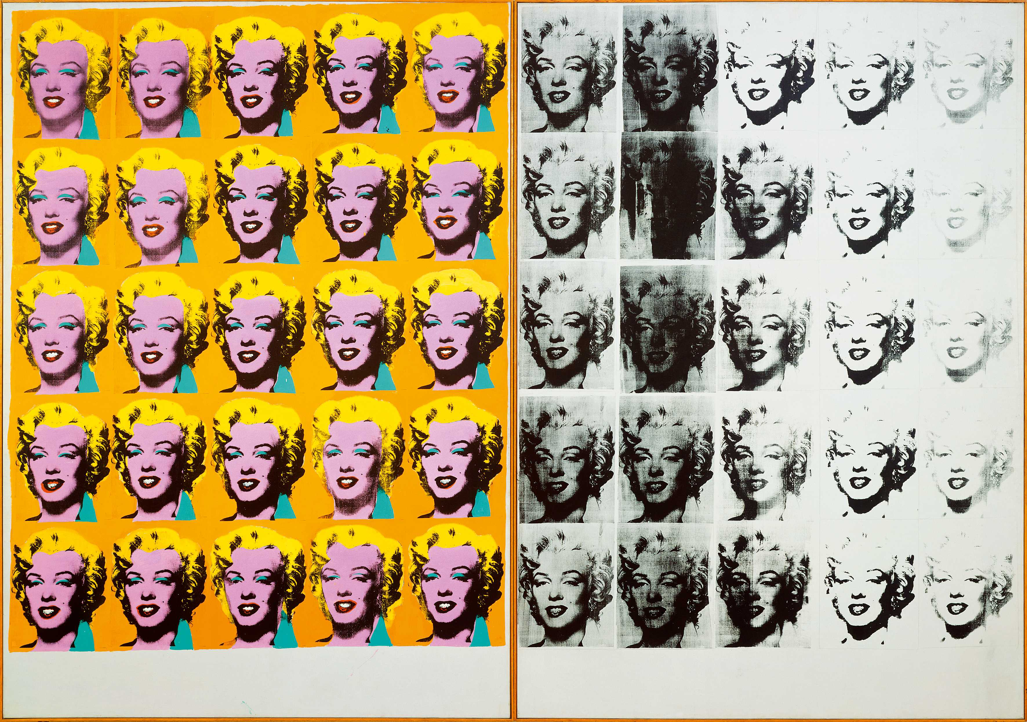 Andy Warhol (1928 – 1987), Marilyn Diptych, 1962, Tate © 2019 The Andy Warhol Foundation for the Visual Arts, Inc / Artists Right Society (ARS), New York and DACS, London