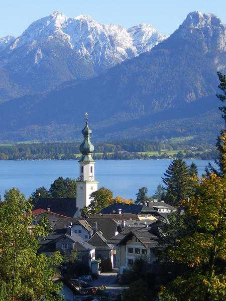Parish Church St. Gilgen, Lake Wolfgang, Salzburg