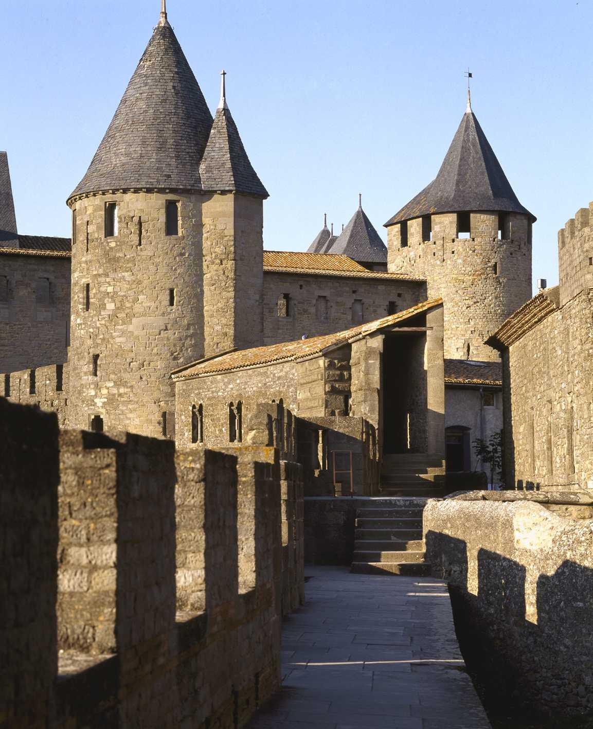 Château et remparts de Carcassonne@A.Lonchampt CMN Paris