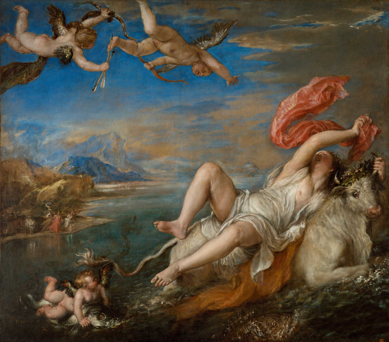 Titian, Rape of Europa, 1562 © Isabella Stewart Gardner Museum, Boston