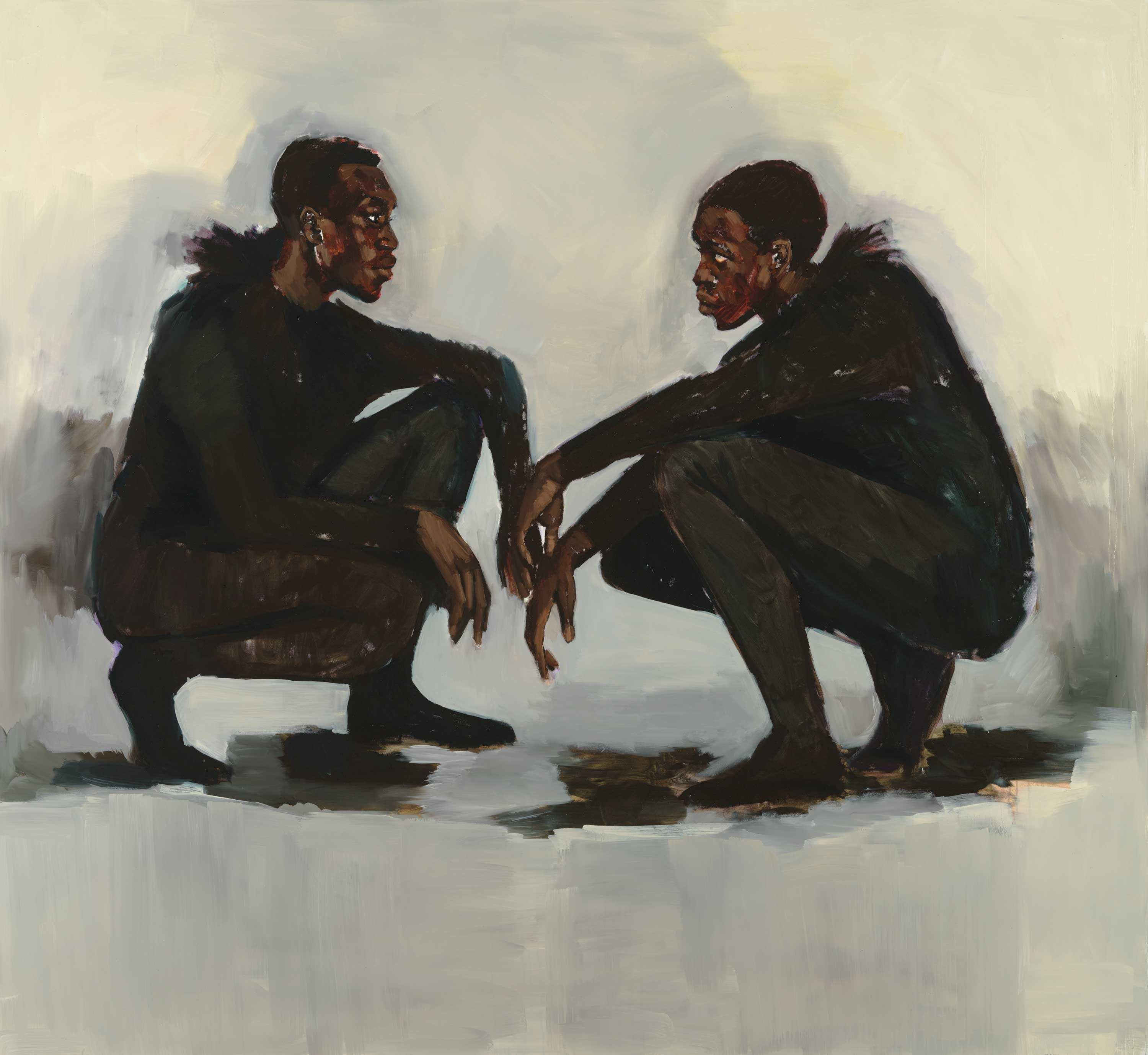 Lynette Yiadom-Boakye, No Need of Speech 2018 Carnegie Museum of Art, Pittsburgh © Courtesy of the artist and Jack Shainman Gallery, New York. Photo: Bryan Conley