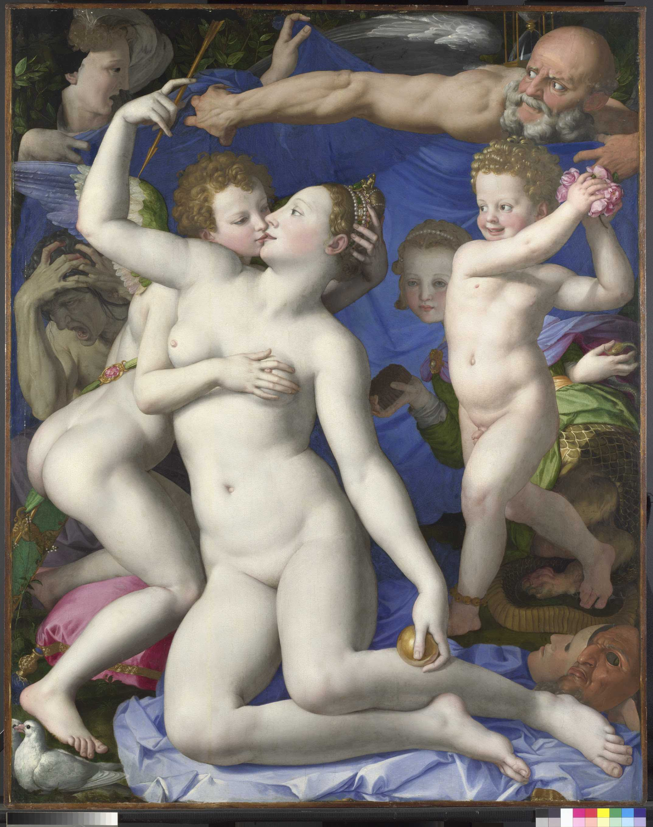 Bronzino An Allegory with Venus and Cupid, about 1545 © The National Gallery, London