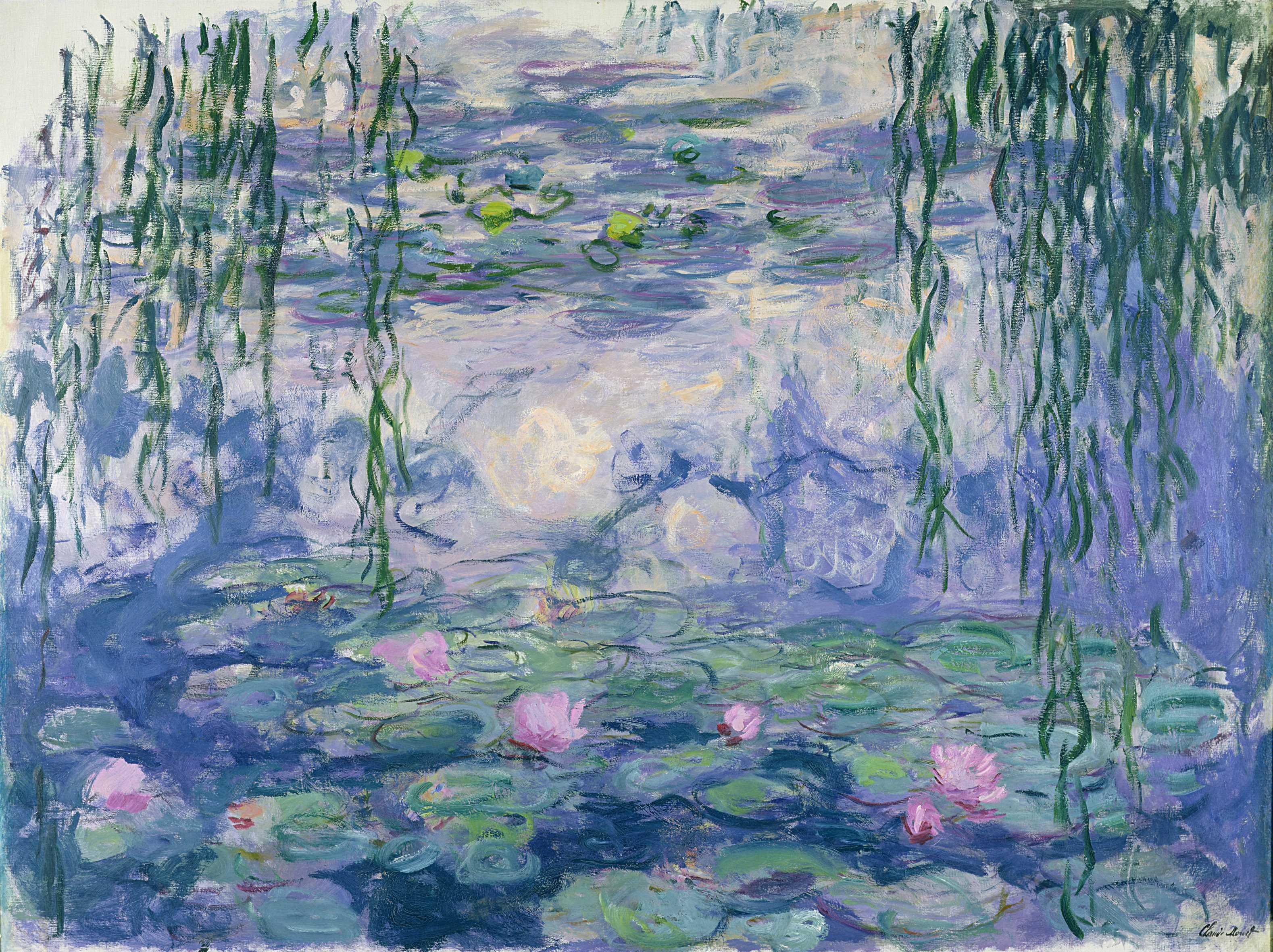 Claude Monet (1840-1926) Nymphéas , vers 1916-1919 Huile sur toile, 150x197 cm Paris, musée Marmottan Monet, legs Michel Monet, 1966 © Musée Marmottan Monet, Paris / Bridgeman Image