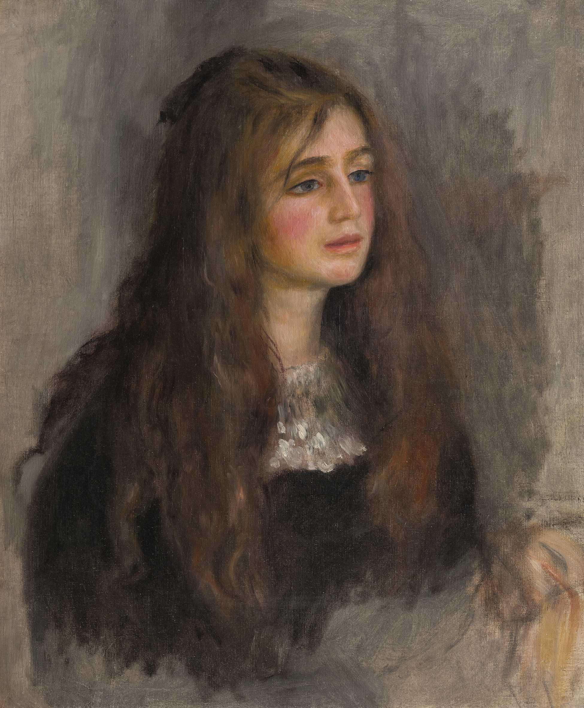 Pierre Auguste Renoir (1841-1919) Portrait de Julie Manet , 1894 Huile sur toile, 55x46 cm Paris, musée Marmottan Monet, legs Annie Rouart, 1993 © Christian Baraja SLB