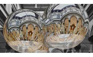 Progetto per Thermodynamic Constellation (Costellazione Termodinamica), 2020 Installazione di Tomàs Saraceno per il cortile di Palazzo Strozzi