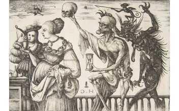 Daniel Hopfer Tod und Teufel überraschen zwei Frauen, ca. 1510–1515 Radierung The Metropolitan Museum of Art, New York